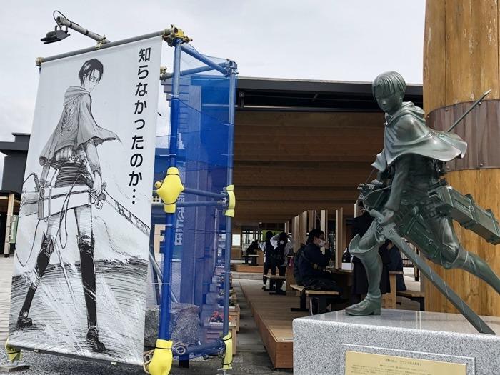 Hajime Isayama'nın Memleketinde Levi Heykeli Açılışı